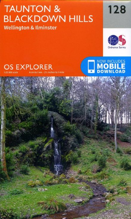 OS Explorer 128 - Taunton & Blackdown Hills, Wellington & Ilminster